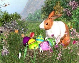 Avatare frumoase de Paste 2011 – Avatare cu iepurasi si oua de Paste pentru Messenger
