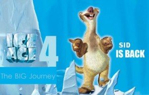 """""""Ice Age 4″ din 2012 in format 3D"""