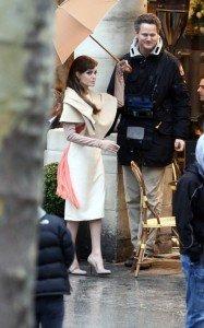 """Poze cu Angelina Jolie de la filmarile productiei """"The Tourist"""""""