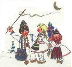 Poezii de sarbatori pentru copii: Baba iarna intra-n sat