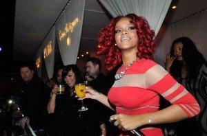 Poze cu Rihanna de la Revelionul 2010