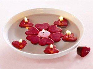 Lumanari romantice de Valentine's Day