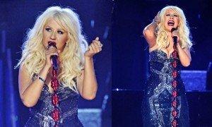 Ups: Christina Aguilera cade pe scena la Premiile Grammy 2011 VIDEO