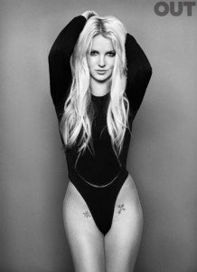 Britney Spears pe coperta revistei OUT