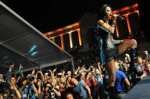 VIDEO Imagini de la concertul Innei din Romania