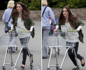 Poze cu ducesa Kate Middleton la supermarket