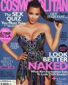 Kim Kardashian – poze noi pe coperta revistei Cosmopolitan