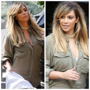 Kum Kardashian s-a vopsit blonda! Vezi cum arata!