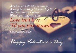 Citate celebre despre iubire pentru Valentine's Day. Citate imagini de Valentine`s Day!