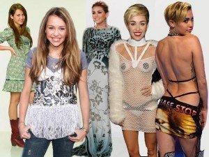GALERIE FOTO: Transformarea lui Miley Cyrus de la Hannah Montana pana in prezent