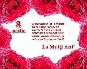 Urari de 8 MARTIE pentru mame, surori, sotii – Urari 8 martie Ziua Femeii