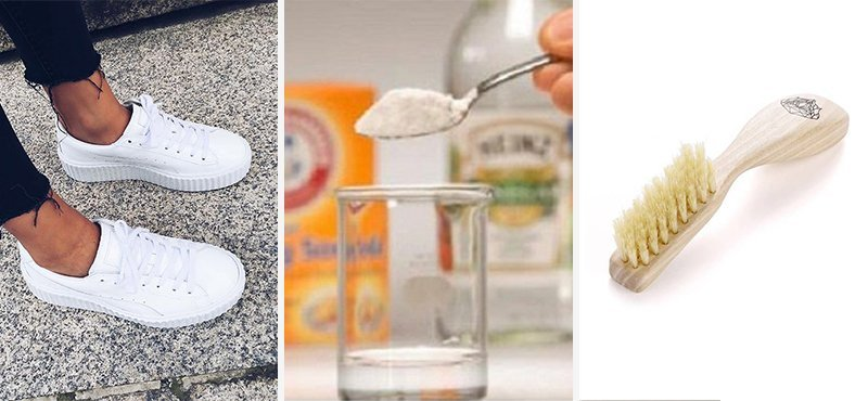 cum sa cureti o pereche de adidasi albi